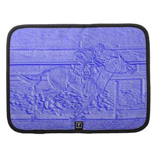 Caballo de carreras azul en colores pastel del planificador
