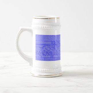 Caballo de carreras azul en colores pastel del jarra de cerveza