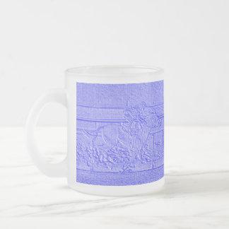 Caballo de carreras azul en colores pastel del taza cristal mate