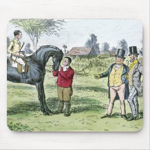 Caballo de carreras y jinete del Victorian Tapete De Ratones