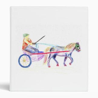 Caballo de carro en el pastel coloreado del creyón
