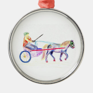 Caballo de carro en el pastel coloreado del creyón ornamente de reyes