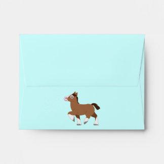 Caballo de Clydesdale: Gracias regalo de la fiesta Sobres