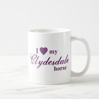 Caballo de Clydesdale Taza Clásica
