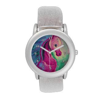 Caballo de colores brillantes relojes de pulsera
