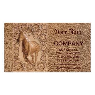 Caballo de cuero equipado occidental del vintage tarjetas de visita