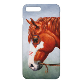 Caballo de guerra del Pinto de la castaña de Funda Para iPhone 7 Plus