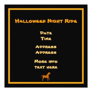 """Caballo de Halloween Invitación 5.25"""" X 5.25"""""""