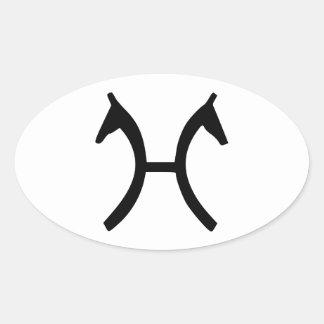 Caballo de Hanoverian Pegatina Ovalada
