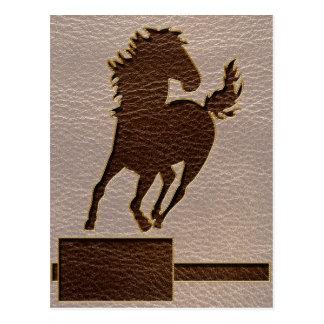 Caballo de la Cuero-Mirada suave Tarjeta Postal