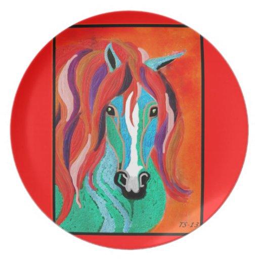 caballo de la fantasía plato de cena
