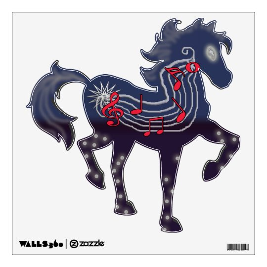 caballo de la melodía vinilo decorativo