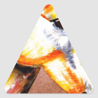 Caballo de la sabiduría pegatina triangular