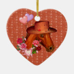 Caballo de la tarjeta del día de San Valentín Adorno Para Reyes