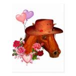 Caballo de la tarjeta del día de San Valentín Postal