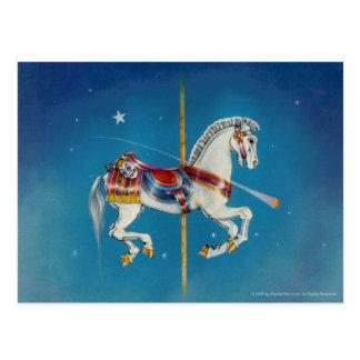 Caballo de las postales - rojas, blanco y azul del
