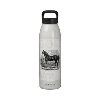 Caballo de los 1800s del vintage - plantilla del E Botella De Agua Reutilizable