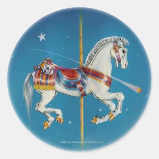 Caballo de los pegatinas - rojos, blanco y azul etiquetas redondas