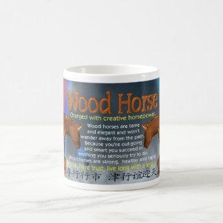 Caballo de madera del zodiaco para 1954,2014 taza clásica