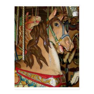 caballo de madera tarjetas postales