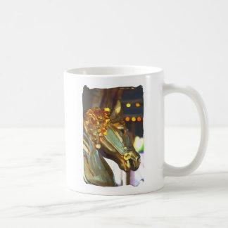 Caballo de madera taza