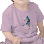 Caballo de mar con las burbujas camisetas