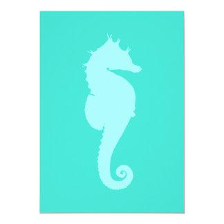 """Caballo de mar de la turquesa 2 invitación 5"""" x 7"""""""