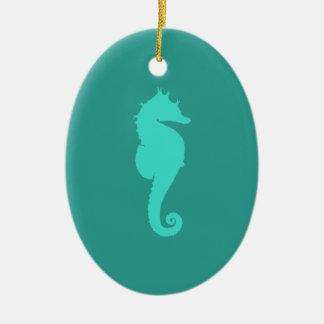 Caballo de mar de la turquesa adorno para reyes