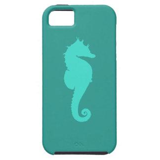 Caballo de mar de la turquesa iPhone 5 funda