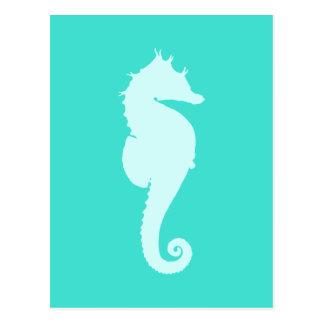 Caballo de mar de la turquesa postales