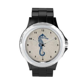 Caballo de mar del vintage relojes de pulsera