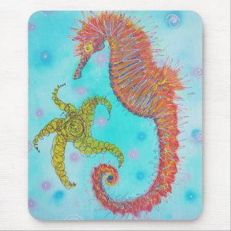 Caballo de mar descarado mouse pads