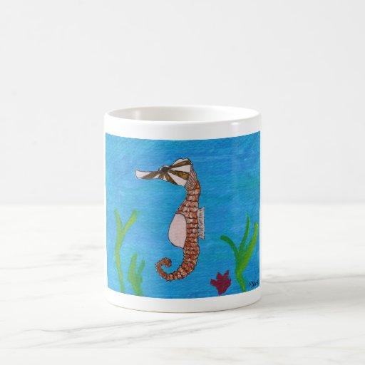 Caballo de mar en el mar por el kolohe Kristin del Taza De Café