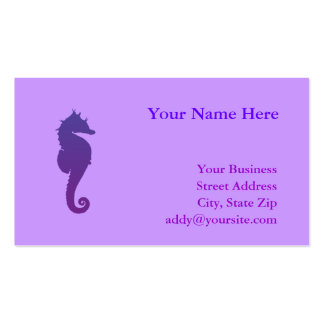 Caballo de mar mágico púrpura tarjetas de visita