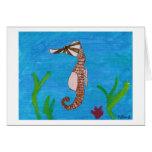 Caballo de mar por el kolohe Kristin - tarjeta del
