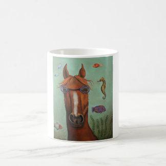 Caballo de mar taza de café