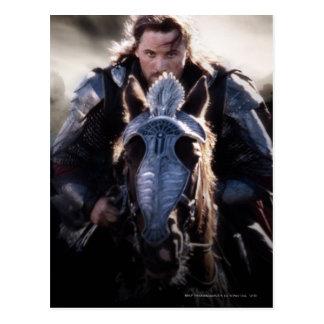 Caballo de montar a caballo de Aragorn Postal