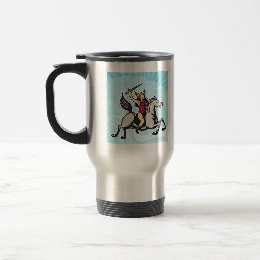 Caballo de montar a caballo del guerrero de Valkyr Tazas