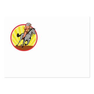 Caballo de montar a caballo del jefe indio del nat tarjetas de visita grandes