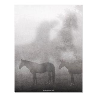 """Caballo de niebla de la mañana folleto 8.5"""" x 11"""""""