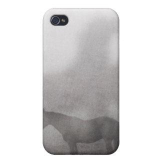 Caballo de niebla de la mañana iPhone 4 funda