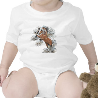 caballo de oro de la fantasía trajes de bebé