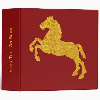 Caballo de oro del modelo del pétalo de Lotus en r
