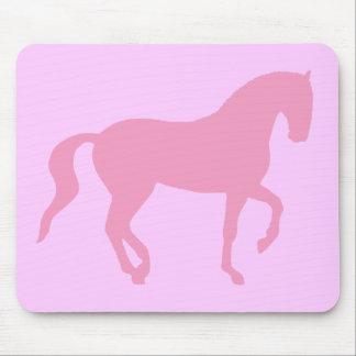 Caballo de Piaffe (rosa) Tapetes De Ratón
