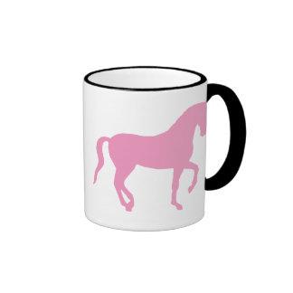 Caballo de Piaffe (rosa) Tazas