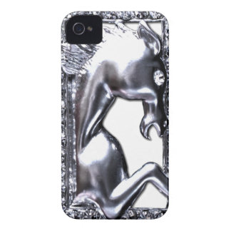 Caballo de plata iPhone 4 Case-Mate coberturas