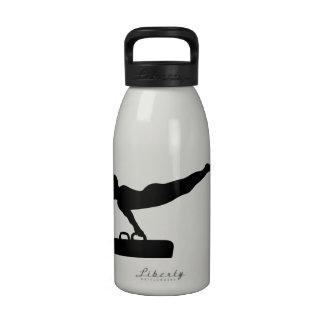 Caballo de pomo de espada de la gimnasia botella de agua reutilizable
