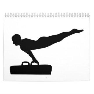 Caballo de pomo de espada de la gimnasia calendarios de pared