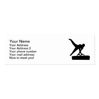 Caballo de pomo de espada del gimnasta plantilla de tarjeta de negocio