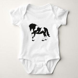 Caballo de proyecto manchado body para bebé